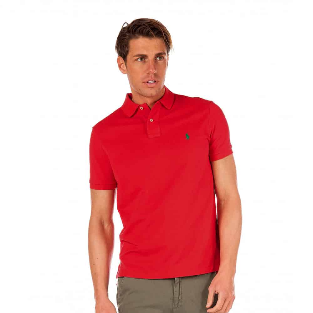 Slim Fit Polo T-Shirt - Red