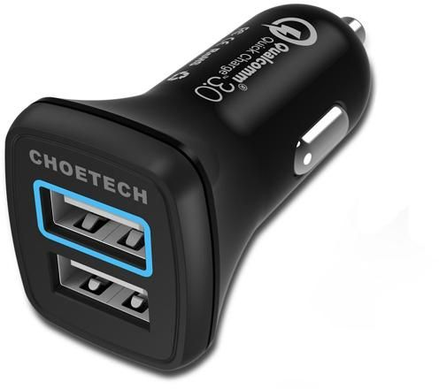 CHOETECH C0051 Dual USB Quick Charge 3.0 Car Charger 30W