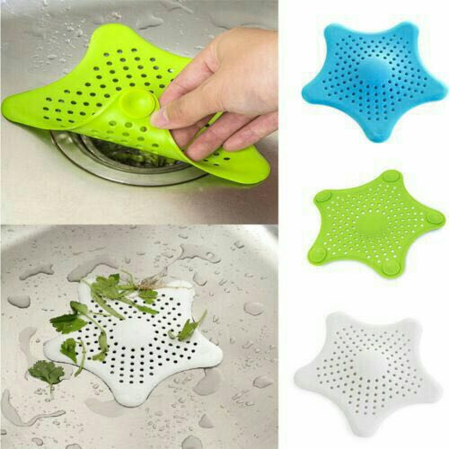 Silicone Star Shaped Sink Strainer - 4 PCs